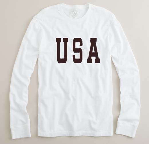 b32f07737 USA font adult Long sleeve T-Shirt - newgraphictees.com