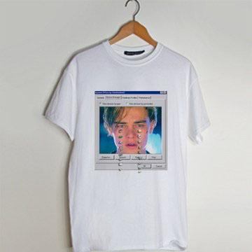 Crying Leonardo DiCaprio T shirt