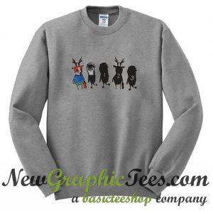 Women Girl Cartoon Sweatshirt