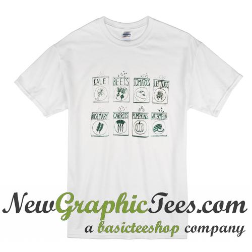 Garden Seeds Screen Printed T Shirt