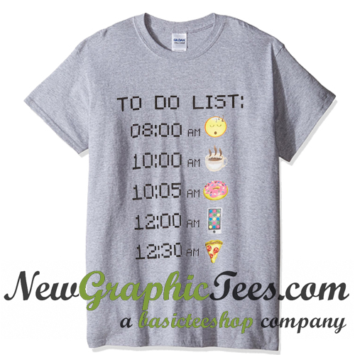 Emoticons To Do List T Shirt