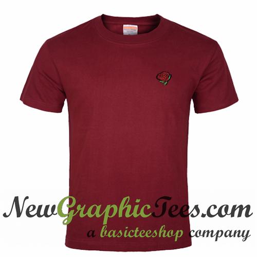 Rose Pocket Print T Shirt