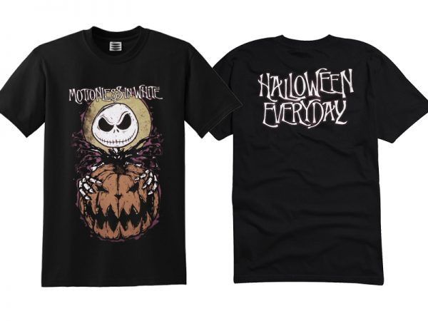 The Nightmare Before Christmas Motionless in White Halloween Everyday T Shirt Twoside