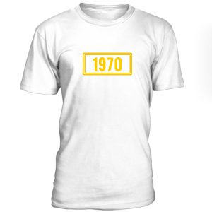 1970 Yellow Font Tshirt