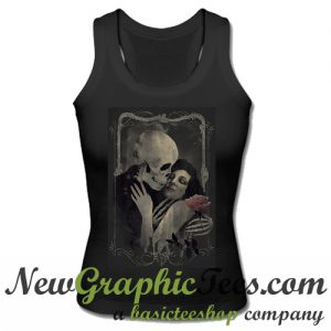 Death grim reaper girl woman dance macabre skull skeleton Tank Top