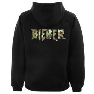 Bieber Purpose Logo Army Hoodie Back