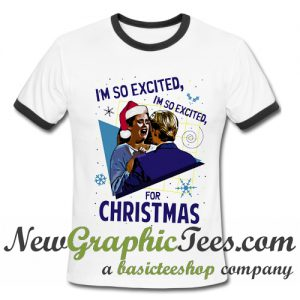 I'm So Excited for Christmas Jessie Spano Ringer Shirt