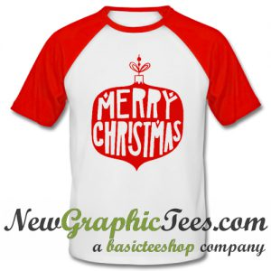 Merry Christmas Bulb Vintage Baseball Shirt