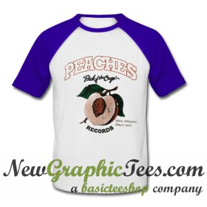 Peaches Pick of The Crop Records Baseball Shirt