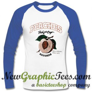Peaches Pick of The Crop Records Raglan Longsleeve