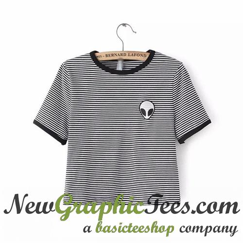 4102b69a Embroidery Tee Shirt Aliens T Shirt Women Short Sleeve Comfortable ...