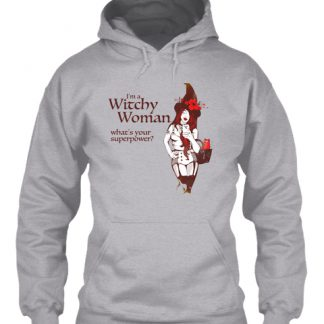 Witchy Woman Superpower Halloween Hoodie