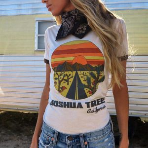 Joshua Tree California Ringer Shirt