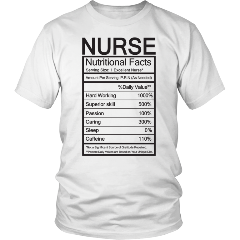 543a51fc Nurse Nutritional Facts T Shirt - newgraphictees.com Nurse Nutritional Facts  T Shirt