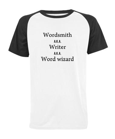 Wordsmith A.K.A Writer A.K.A Word Wizard baseball t shirt
