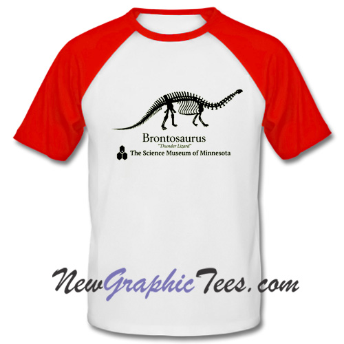 Brontosaurus Dustin Henderson Stranger Things Baseball Shirt