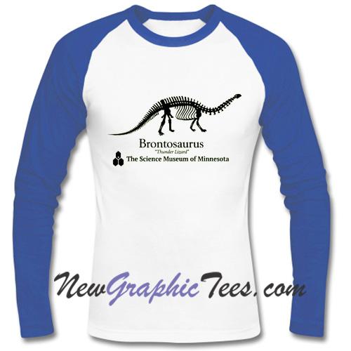 Brontosaurus Dustin Henderson Stranger Things Raglan Longsleeve