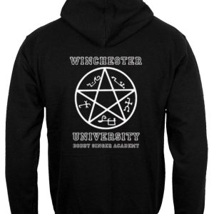 Winchester University hoodie back