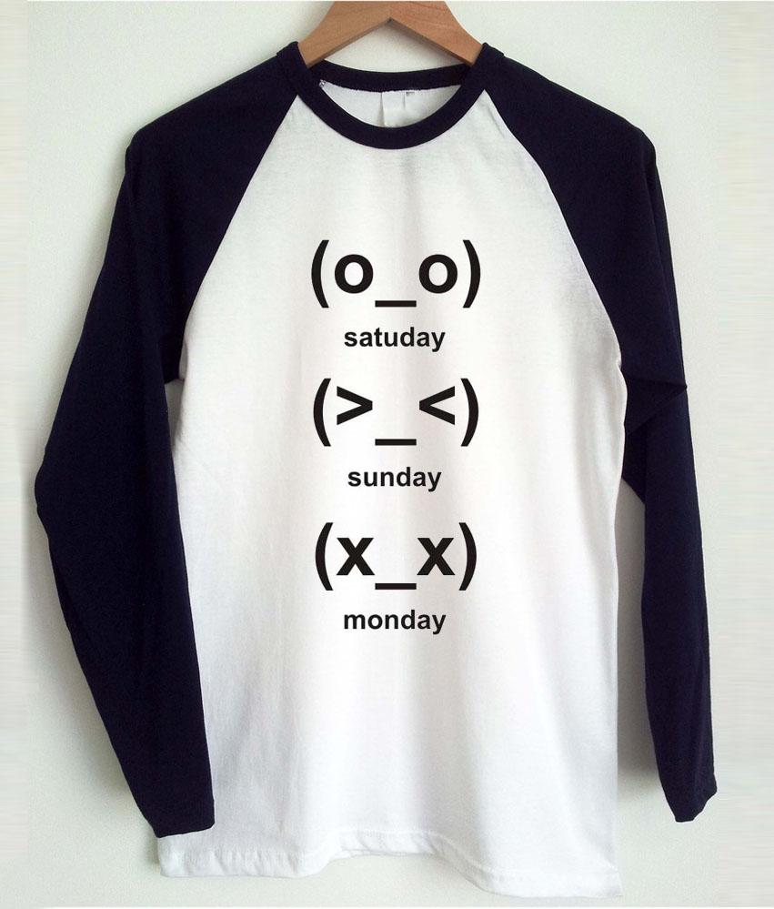 Cute Emoji Days Raglan Long Sleeve Shirt
