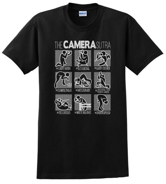The CAMERA Sutra Photographer Comedy T-Shirt