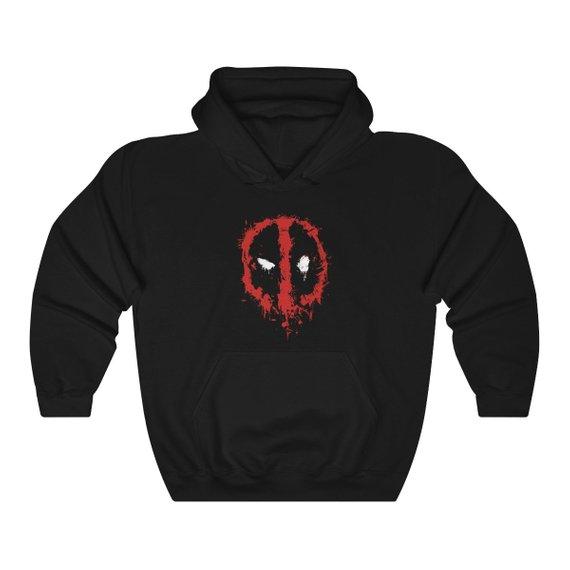 Deadpool Splatter Unisex Heavy Blend Hoodie