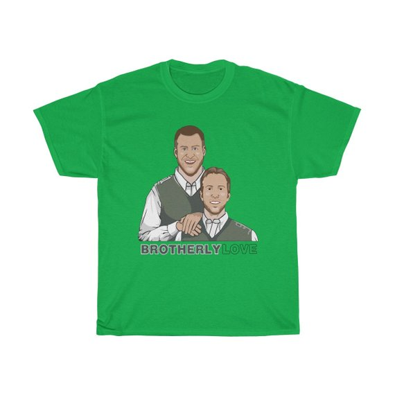 new product 70068 07c62 Philadelphia Eagles Carson Wentz And Nick Foles Brotherly Love T Shirt