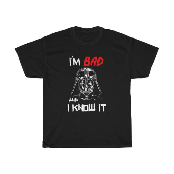 Bad Darth Vader Unisex T Shirt