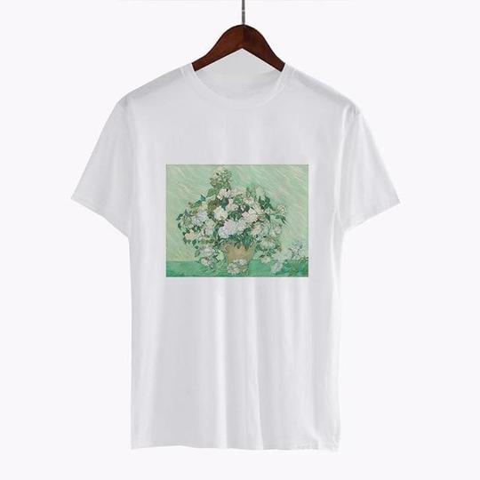 Vincent van Gogh Roses T Shirt