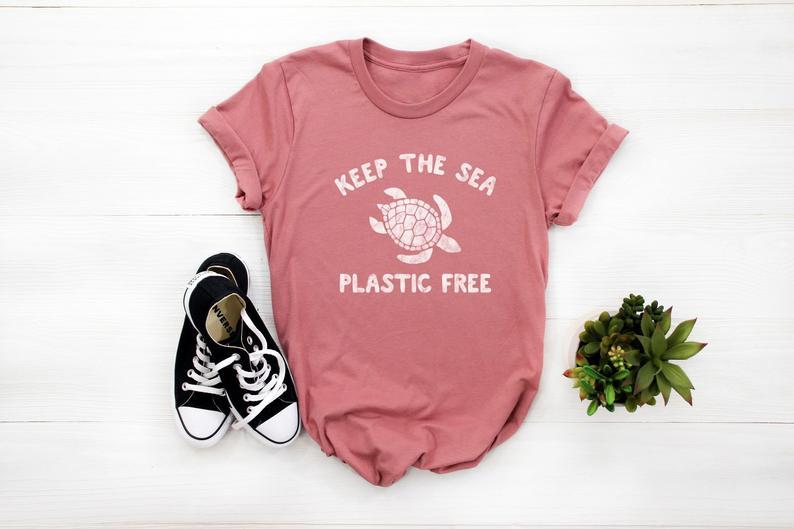 Keep The Sea Plastic Free Turtle T Shirt
