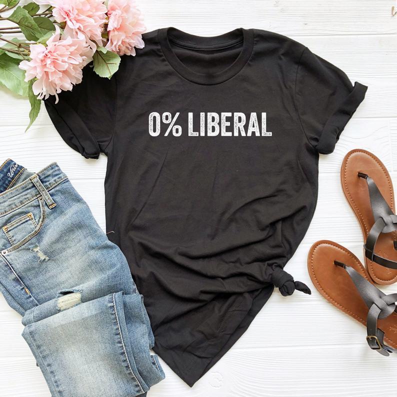 0 % Liberal Tshirt