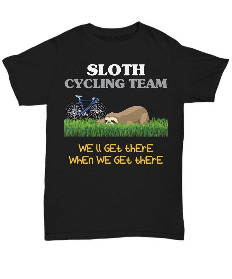 Cycling Sloth T Shirt
