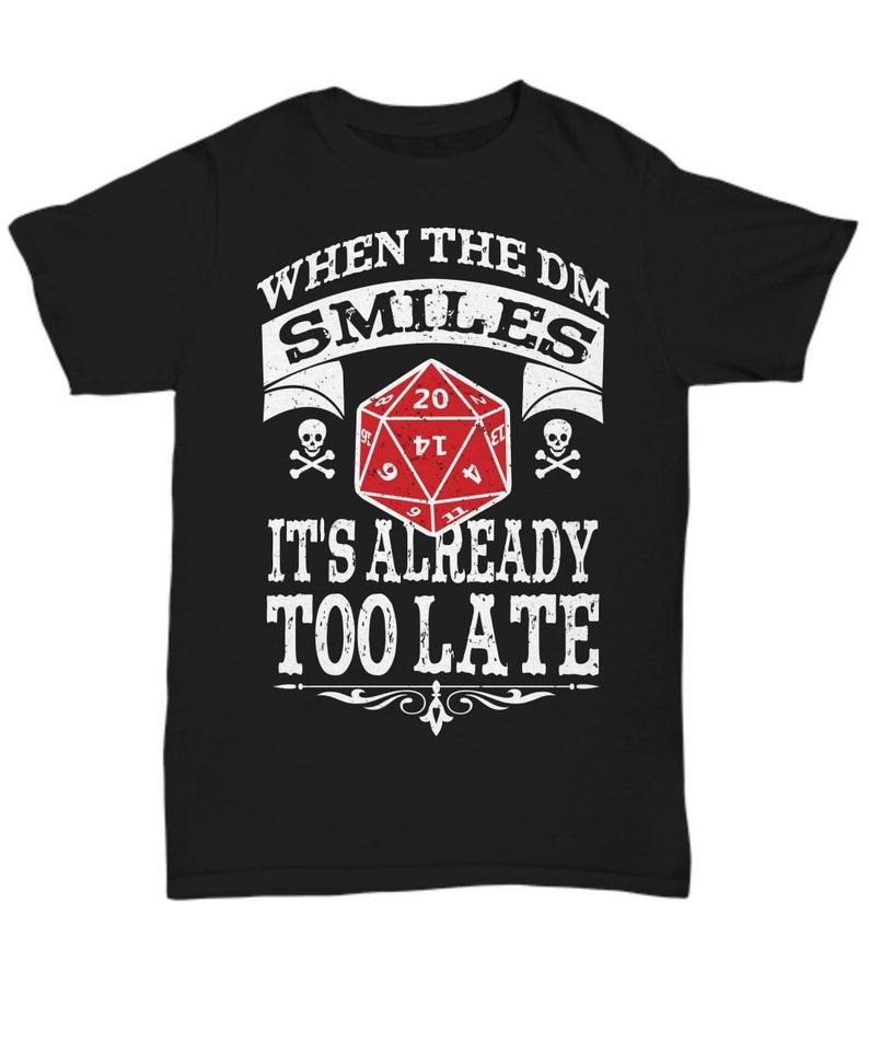 Dungeon Master Gift DND T Shirt