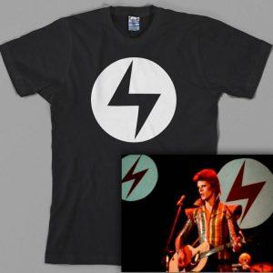 Ziggy Stardust inspired Lightning Bolt T Shirt