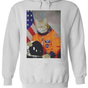 Astronaut Cat Kitten Funny Space Hoodie