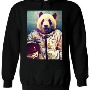 Astronaut Funny Panda Retro Hoodie