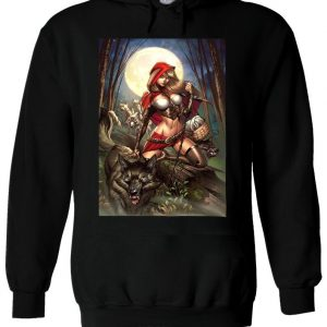 Wild Red Riding Hood Girl With Wolf Hoodie