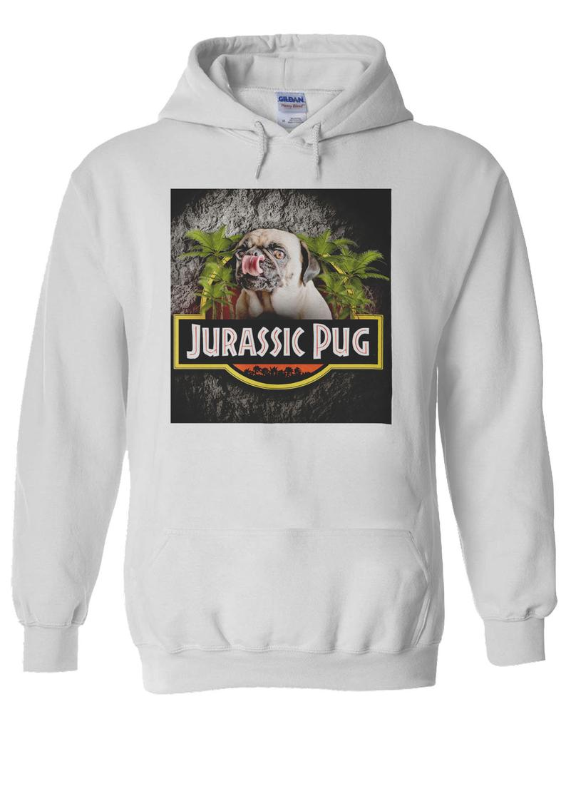 Jurassic Pug Funny Parody Urban Swag Hoodie