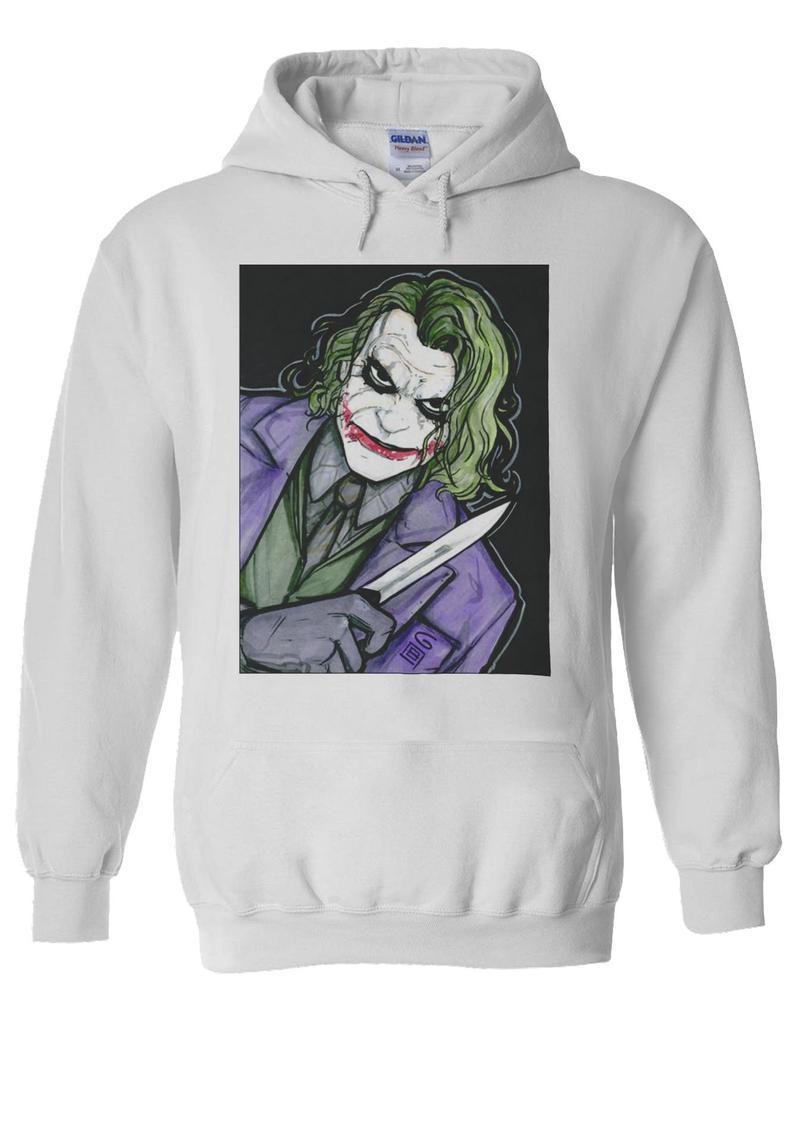 The Joker Heath Ledger Batman Knife Hoodie