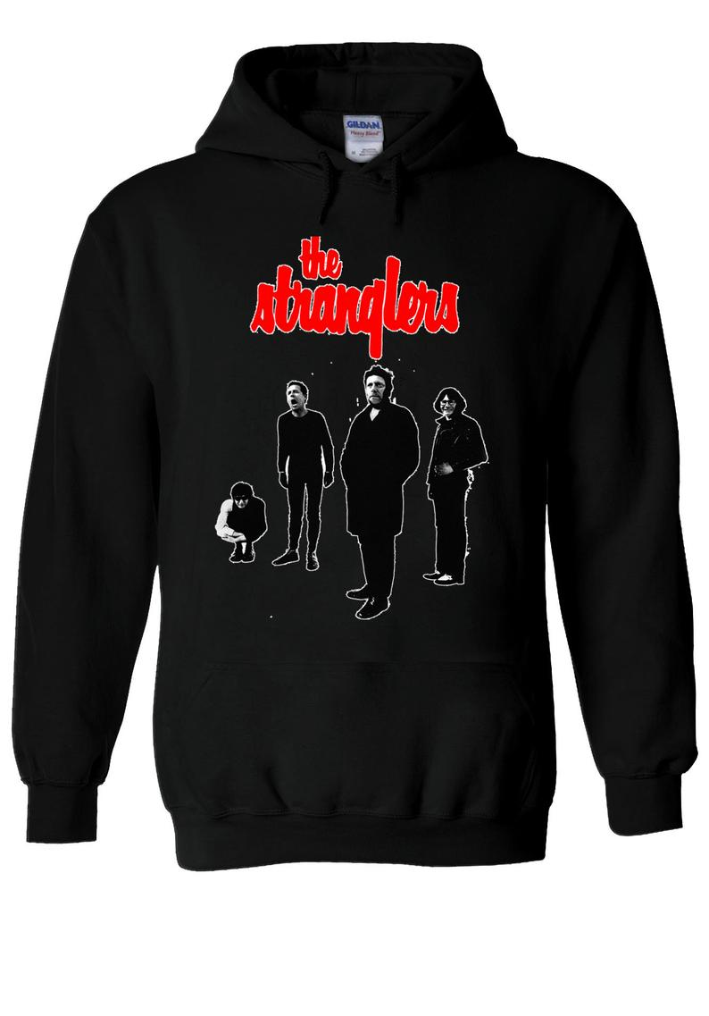 The Strangles Black And White The Raven Punk Rock Hoodie
