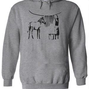 Zebra Banksy Hoodie