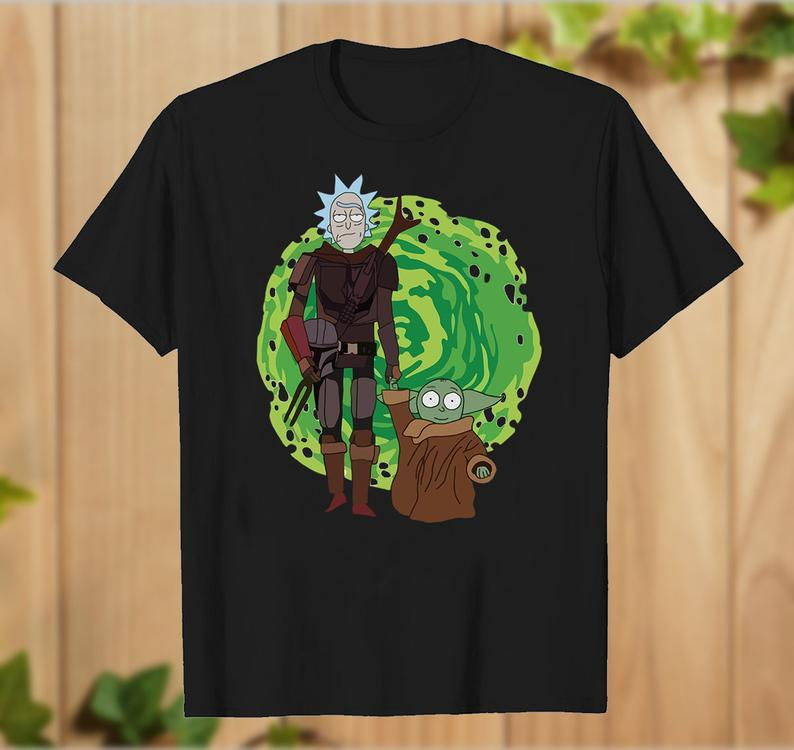 Friends Star Wars,Rick Morty And Baby Yoda Star Wars T Shirt