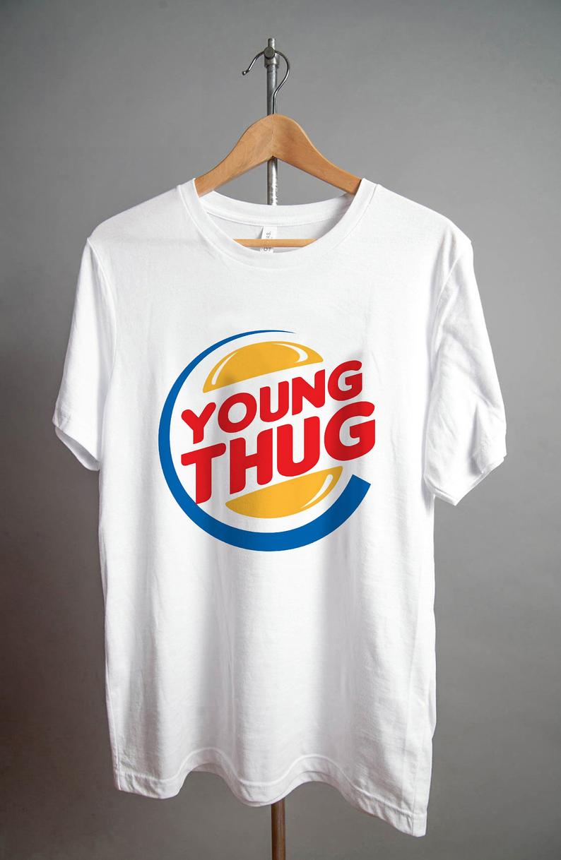 Young Thug Burger King T Shirt