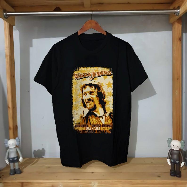 Waylon Jennings Concert T Shirt