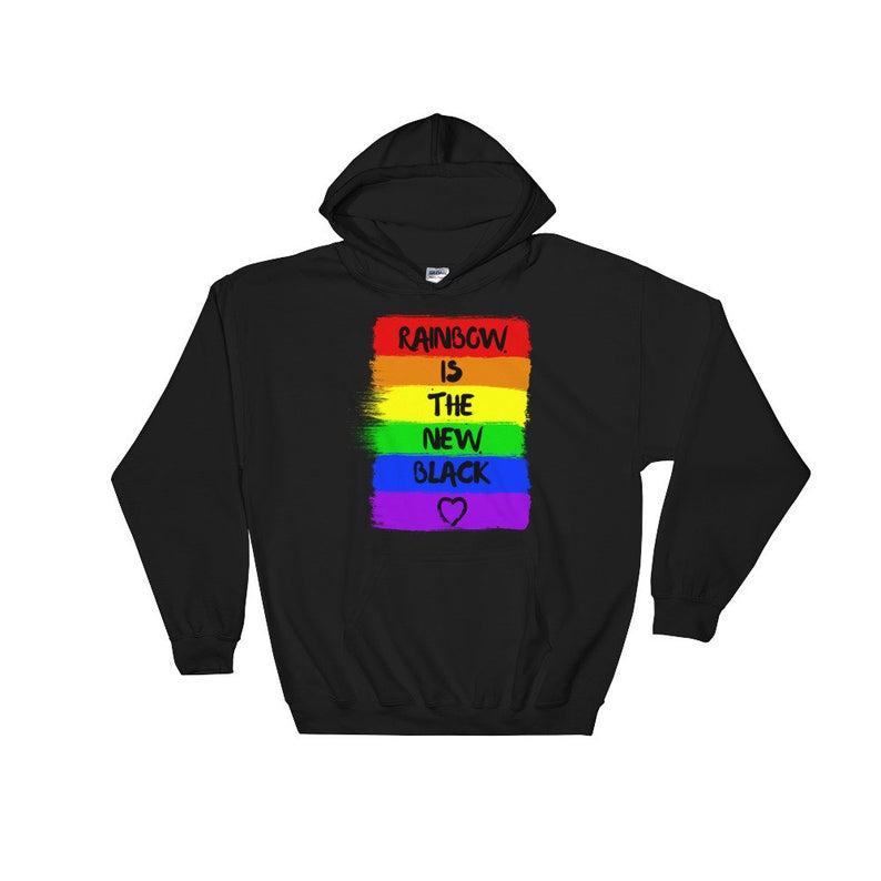 Rainbow Is The New Black Unisex Hoodie