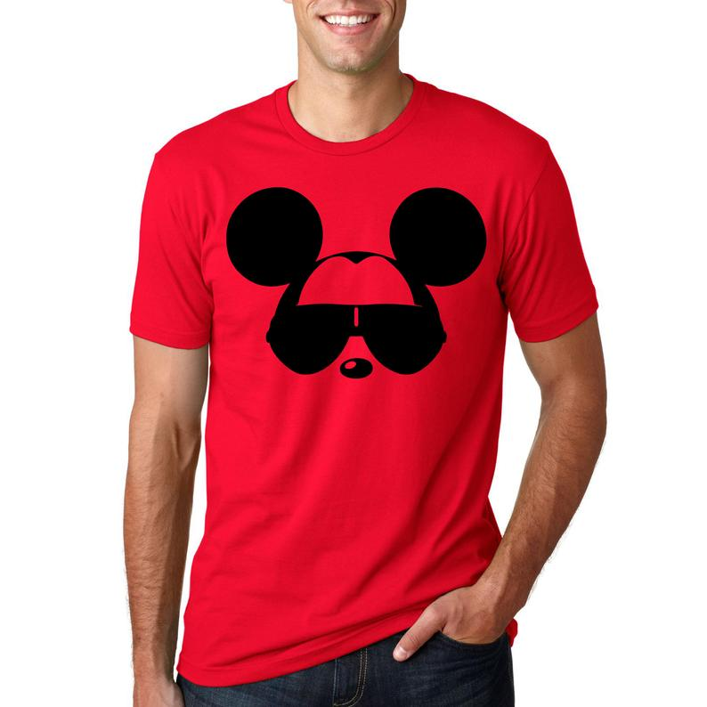 Mickey Mouse with Sunglasses Funny T Shirt