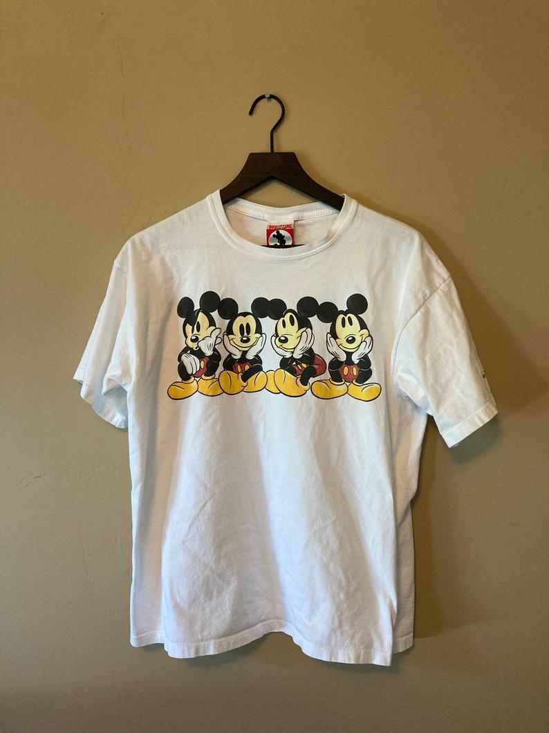 Vintage Mickey Faces T Shirt